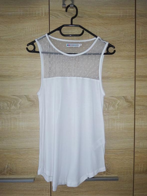 nowa biała bluzka bokserka z siatką lekka cienka zwiewna 36 S