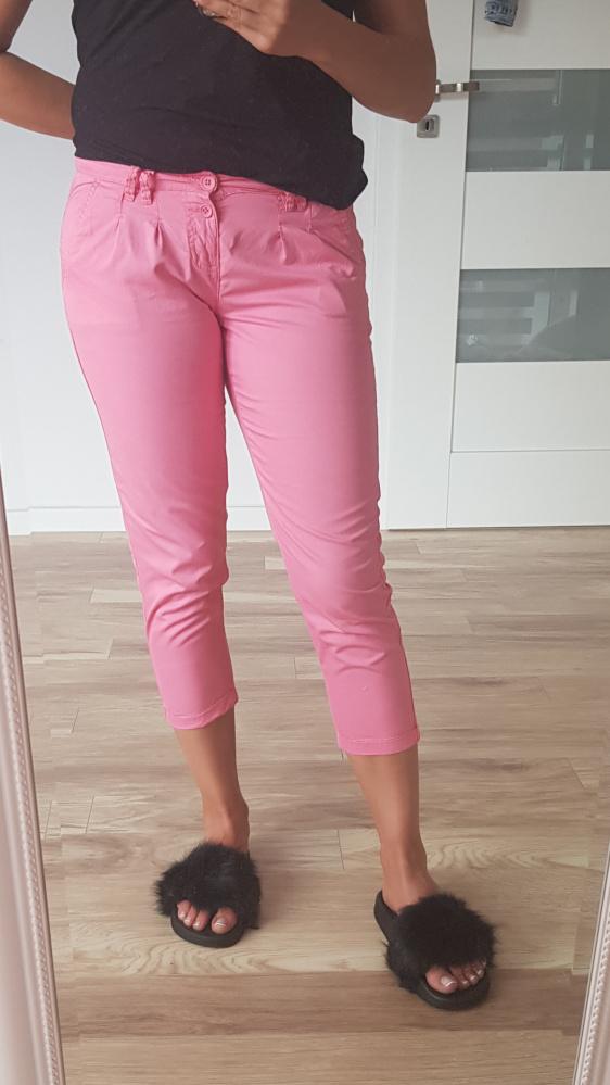 Różowe letnie spodnie terranova XS S...