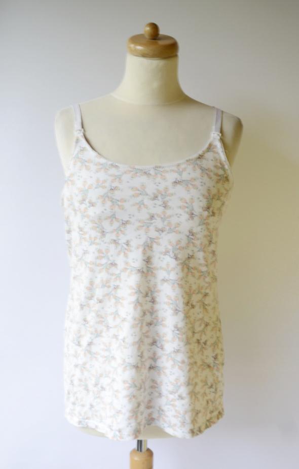Bluzka Biała Kwiaty Do Karmienia H&M Mama L 40 Koszulka...