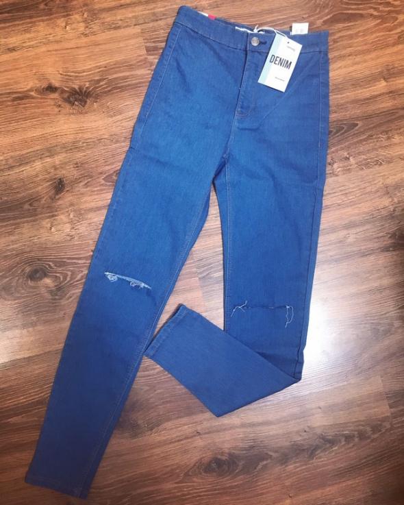 Nowe spodnie jeansy wysoki stan S SinSay