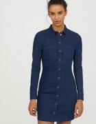 dżinsowa sukienka H&M xxs 32 jeansowa jeans ołówkowa...