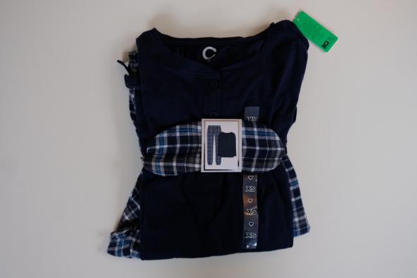Piżamy 3 elementy piżama CUBUS xs 34 bawełna komplet zestaw opaska