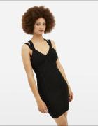 Czarna dopasowana sukienka xs 34 Tally Weijl ołówkowa bandażowa...