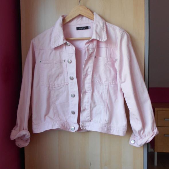 Zophie jeansowa katana kurtka pudrowy róż