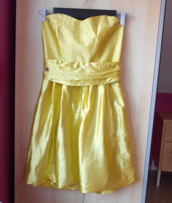 River Island sukienka satynowa gorsetowa wesele studniówka