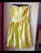 River Island sukienka satynowa gorsetowa wesele studniówka...