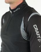 czarna bluzka xs 34 CRAFT z Norwegii stójka zamek narty sport