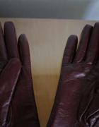 rękawiczki skórzane 100 skóra rękawice 100 bawełna