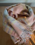 gruby kolorowy szal szalik