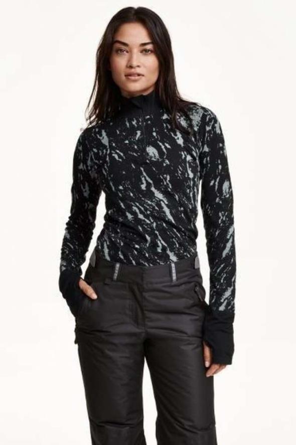 Bluzka bluza stójka H&M xs 34 sport koszulka birganie góry rowe...