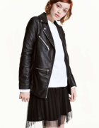 czarna ramoneska H&M xxs 32 xs 34 eco skóra biker kurtka