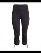 Czarne legginsy spodnie H&M xs 34 sport fitness trening