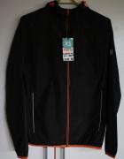 czarna kurtka xs 34 odblski wiatrówka zamek fitness sport fit