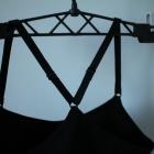 CZARNY TOP SPORTOWY H&M XS 34 SPORT FITNESS BIEGANIE TRENING