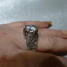 srebrny rusek z cyrkonią