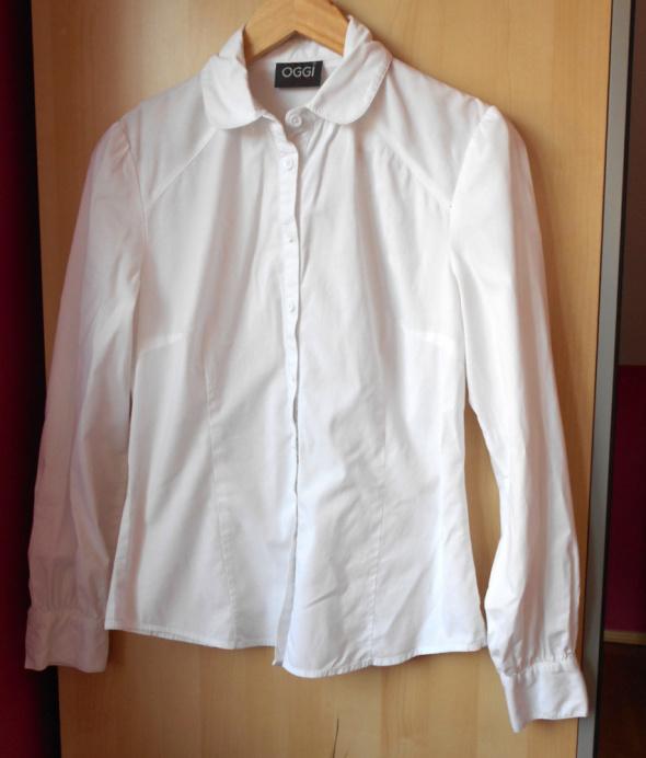 Oggi biała koszula klasyka okrągły kołnierzyk collar