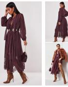 Sukienka burgundowa NOWA...