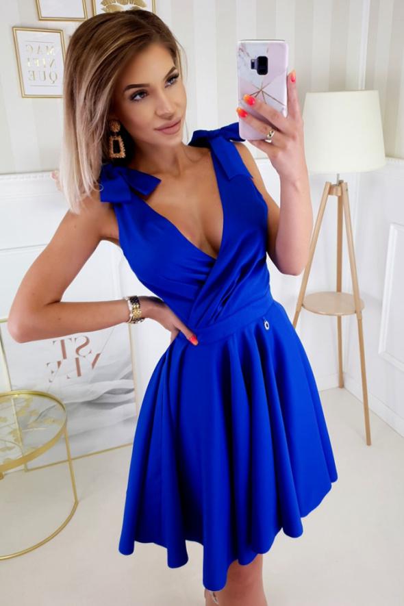 Urocza rozkloszowana sukienka kokardy 5 kolorów XS S M L...