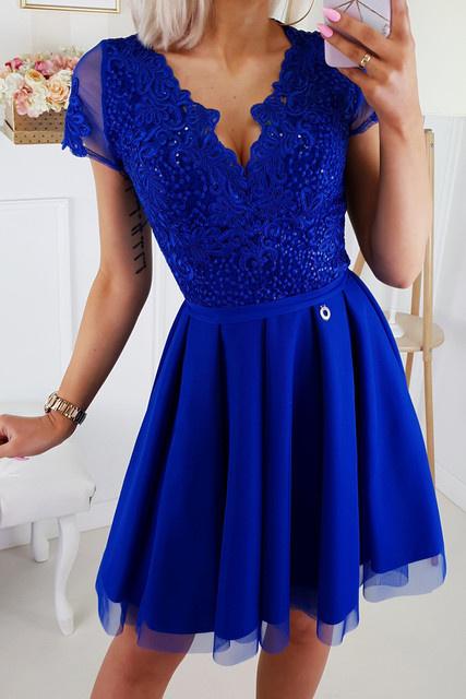 Nowa chabrowa sukienka 34...