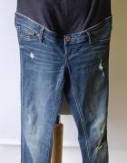 Spodnie Rurki H&M Mama Jeans Dziury S 36 Skinny Dzinsy...