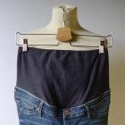 Spodnie Rurki H&M Mama Jeans Dziury S 36 Skinny Dzinsy