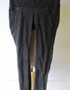 Spodnie Szare H&M Mama S 36 Super Skinny Postrzępione Tregginsy...
