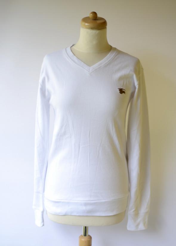 Bluza Biała Łatki Burberry London L 40 Biel NOWA Bawełna