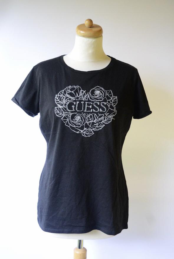 Bluzka Czarna Koszula Guess M 38 T Shirt Nadruk...