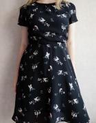 Czarna sukienka wizytowa redherring L...