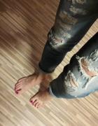 Spodnie z przetarciami...