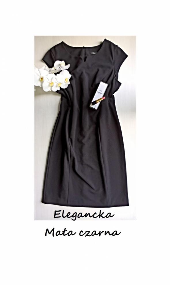 Elegancka mała czarna sukienka 42 44 klasyka must have