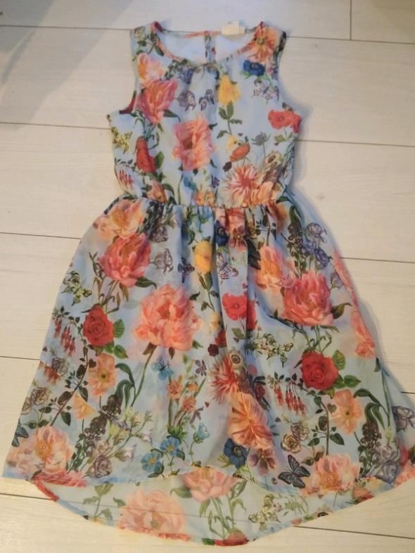 Sukienka w kwiatki XS H&M...