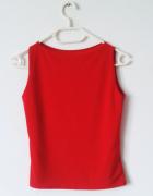 Czerwona bluzka bez rękawów elegancka basic gothic...