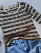 Sweter z bawełnianej włóczki M