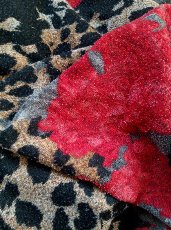 Oversizeowa bluzka vintage 90s 80s retro pantera kwiaty...