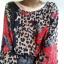 Oversizeowa bluzka vintage 90s 80s retro pantera kwiaty