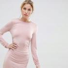 Sukienka puder róż marszczona rozmiar M