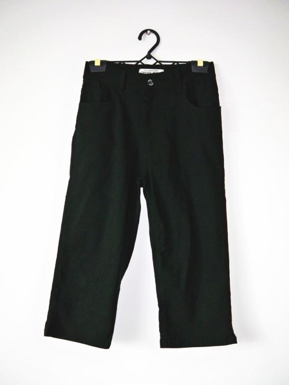 Czarne rybaczki Cross Jeans wyższy stan vintage letnie spodnie...