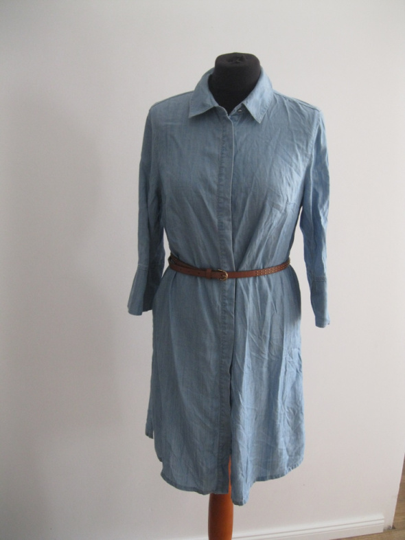 sukienka jeans F&F 36 schmizjerka niebieska nowa...