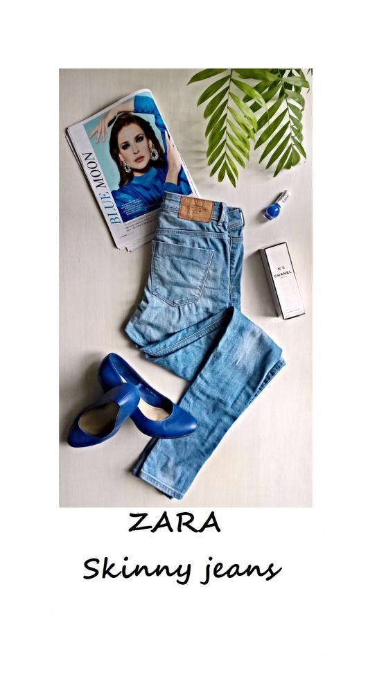 Jeansy Zara Skinny XS S rurki