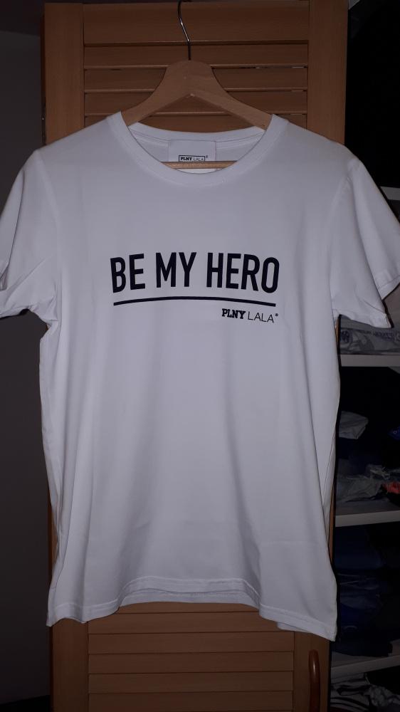 Nowa koszulka Plny Lala Be My Hero White XXS