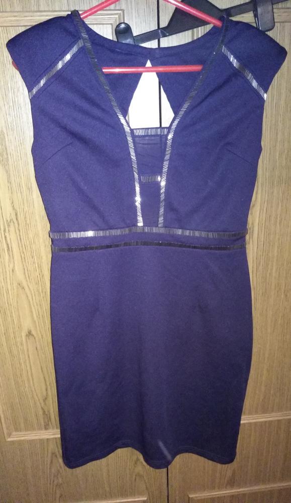 Granatowa sukienka M L...