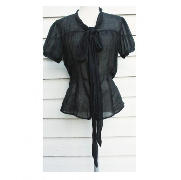 Czarna bluzka Next z jedwabiem