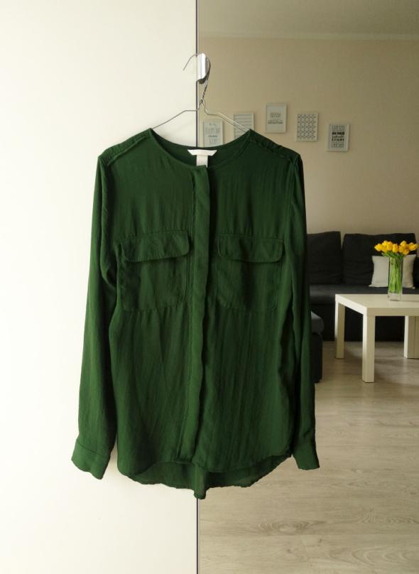 Bluzka H&M butelkowa zieleń M...