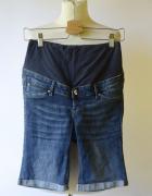 Spodenki Ciążowe Ciąża H&M Mama Dzinsowe S 36 Jeansowe...