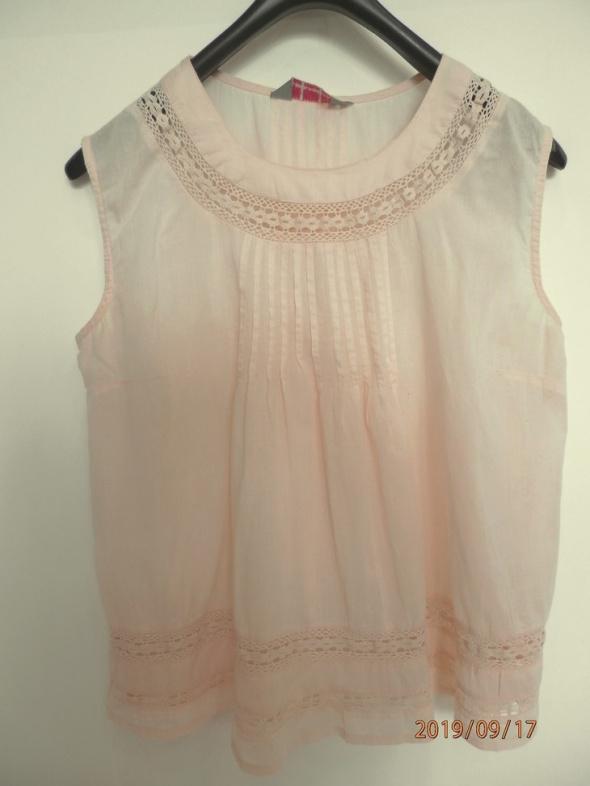 Bluzka Dorothy Perkins Pudrowa Pastelowa Zdobiona Ażurem M...