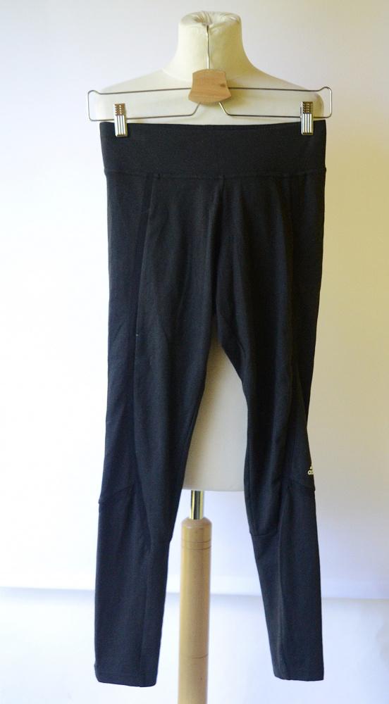 Legginsy Czarne Adidas Climalite S 36 Spodnie Fitness