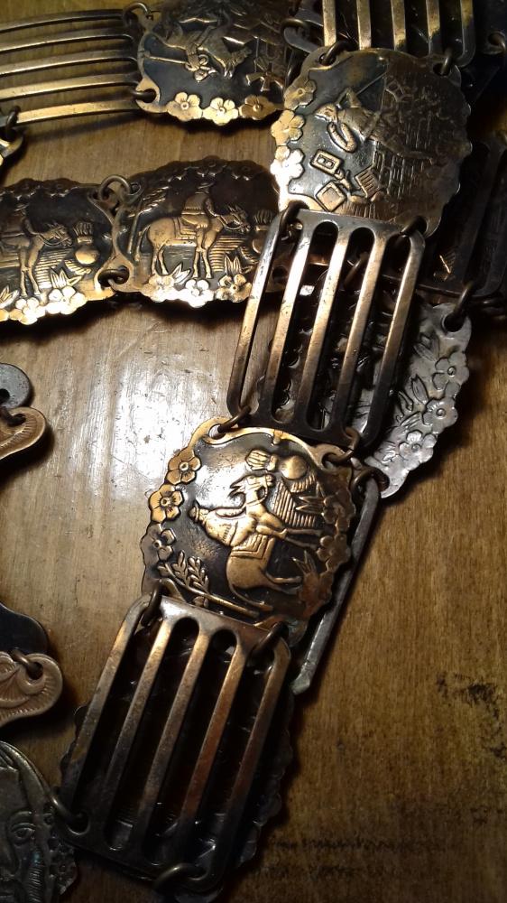 Łańcuszki Metaloplastyka z miedzi pasek prl