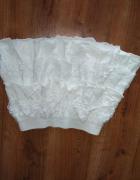 spódnica z koronką i falbaną biała...