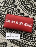 Portfel calvin klein jeans czerwony...